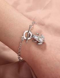 Fashion Silver Color Frog Cage Natural Freshwater Oyster Pearl Bracelet