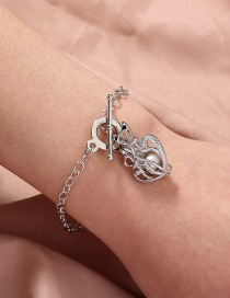 Fashion Silver Color Natural Freshwater Oyster Pearl Couple Cage Bracelet