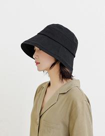 Fashion Black Cotton Solid Color Stitching Fisherman Hat
