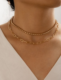 Fashion Golden Hollow Thick Chain Multilayer Necklace
