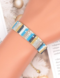 Fashion Color Mixing Rice Beads Hand-woven Striped Beaded Bracelet