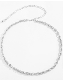Fashion White K Twist Hanging Ball Tassel Aluminum Body Chain
