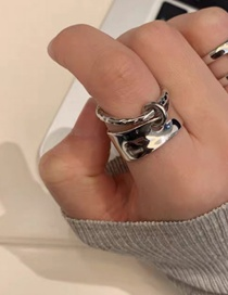 Fashion Silver Alloy Geometric Opening Adjustable Ring