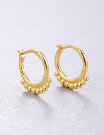 Fashion Gold Color Small Round Bead Tassel Alloy Earrings