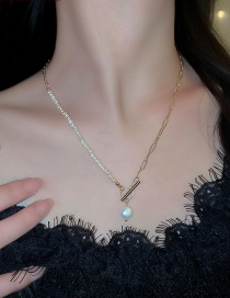 Fashion Freshwater Pearl Necklace Freshwater Pearl Splicing Chain Alloy Necklace