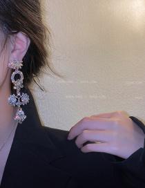 Fashion Flowers Crystal Pearl Flower Alloy Earrings