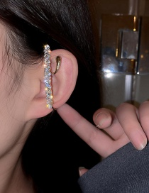 Fashion Gold Color Real Gold Electroplated Super Flash Zircon Ear Clip