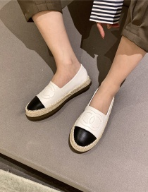 Fashion White Flat-bottomed One-step Stitching Contrast Color Fisherman Shoes