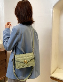 Fashion Green Textured One-shoulder Square Crossbody Bag