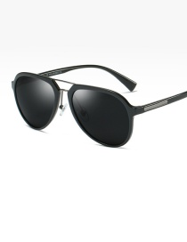 Fashion Bright Black/full Gray Polarized Sunglasses