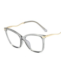 Fashion Gray/anti-blue Light Anti-blue Frame Tr95 Flat Mirror Can Be Equipped With Myopia