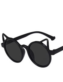 Fashion Bright Black All Gray Cat Ears Childrens Uv Protection Sunglasses