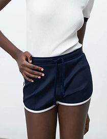 Fashion Navy Paneled Shorts