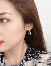 Fashion Gold Color Irregular Geometric Gold Color Earrings