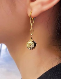 Fashion Gold Color Chain Ball Alloy Earrings