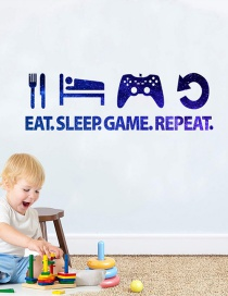 Fashion 60*20cm Game Console Handle Brilliant Blue Wall Stickers
