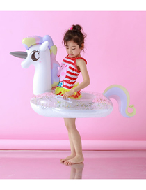 Fashion Sequined Inflatable Bottom Princess Horse 405g Childrens Sequined Unicorn Inflatable Boat