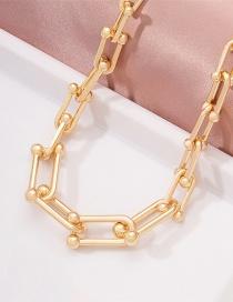 Fashion Gold Color Chain Geometric Alloy Necklace