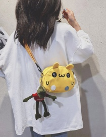 Fashion Yellow Canvas Embroidered Crossbody Bag
