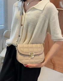 Fashion Khaki Embroidered Thread One-shoulder Messenger Bag