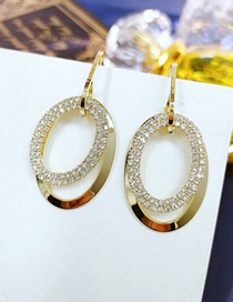 Fashion White Double Ring Ear Studs