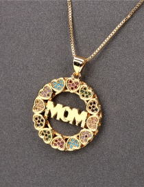 Fashion Section 5 Mom Diamond Love Letter Necklace