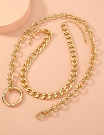 Fashion Golden Double Layered Detachable Necklace