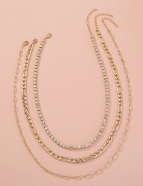 Fashion Golden Stackable And Detachable Multi-layer Necklace