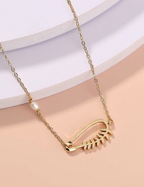 Fashion Gold Color Pin Leaf Necklace