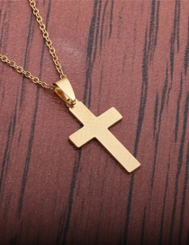 Fashion Gold Color Cross Necklace