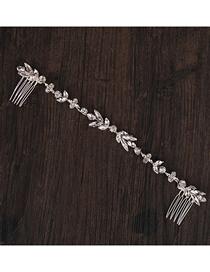 Fashion White Crystal Rhinestone Hair Comb