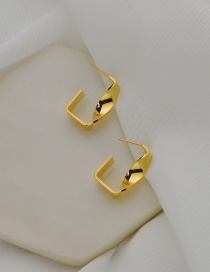 Fashion Gold Color Metal Irregular Twisted Earrings