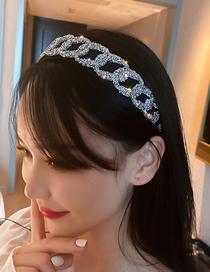 Fashion Black And White Diamonds Geometric Diamond-studded Full-drilled Headband