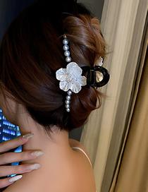 Fashion Black Hairpin Crystal Shell Flower Pearl Scratch Hair