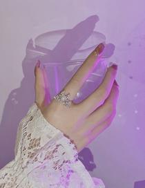 Anillo Abierto Mariposa Perla Circonita