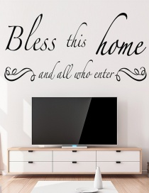 Fashion 30*58cm Bless This Home Wall Sticker Wall