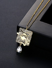 Fashion Gold Color Gold And Diamond Necklace