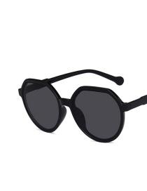 Fashion Bright Black And Gray Flakes Irregular Sunglasses