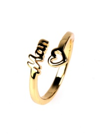 Fashion Golden Love English Letters Mom Ring