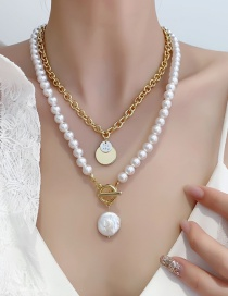 Fashion Gold Color Double Layered Pearl Necklace