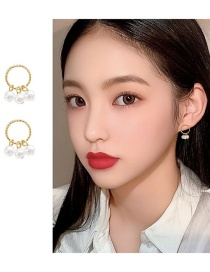 Fashion Gold Color Pearl Ear-rings