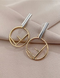 Fashion Gold Color Alphabet Earrings