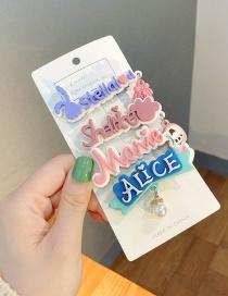 Fashion Set Of Four Cartoon Letter Hairpin
