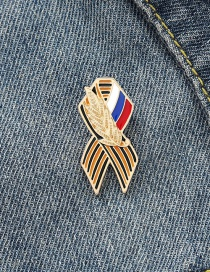 Fashion Color Alloy Baked Lacquer Wheat Ear Brooch