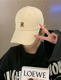 Fashion R Word Beige Small Head Circumference Baseball Cap