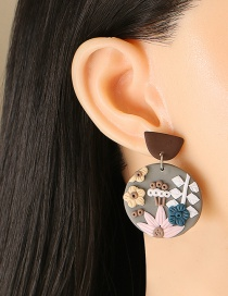 Fashion Lotus Acrylic Flower Stud Earrings