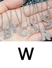 Fashion W English Letter A-z Adjustable Necklace