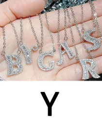 Fashion Y English Letter A-z Adjustable Necklace