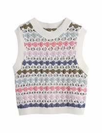 Fashion Color Hollow Sweater