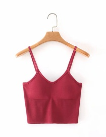 Fashion Red Beautiful Back Sling Top
